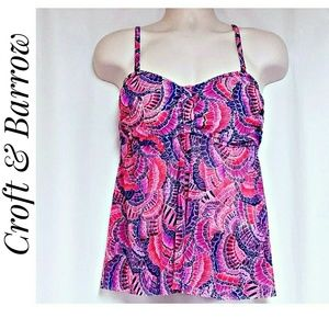 *SALE* Croft  &  Barrow Swim Top Purple Pink 16W